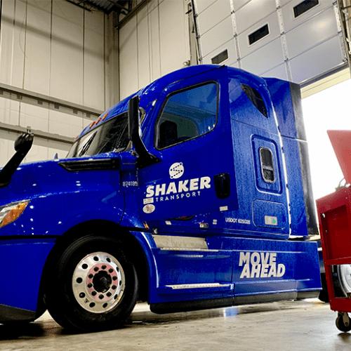 Blue Tractor Trailer Cab Shaker Logistics